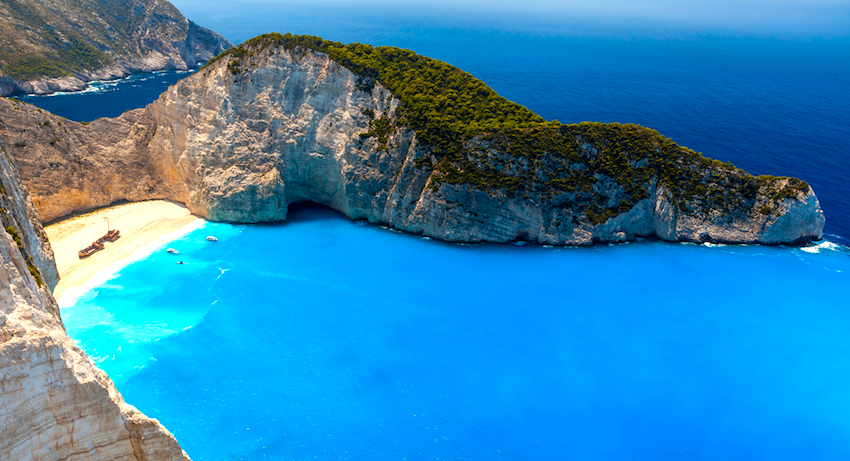 Shipwreck breach in Zakynthos ([image source](https://www.greektravel.com/greekislands/zakynthos/))